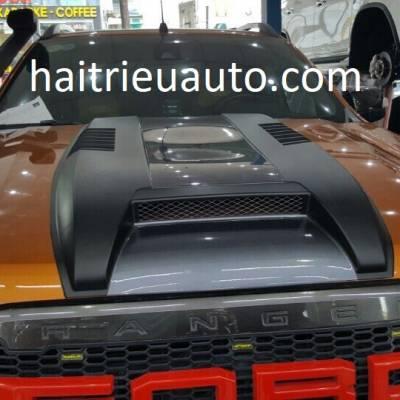 trang trí nắp capo cho xe ford ranger 2017