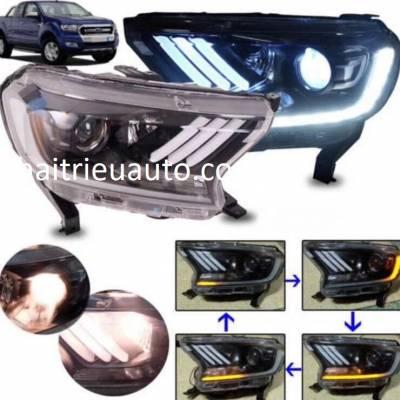 đèn pha độ nguyên bộ xe ford ranger 2018