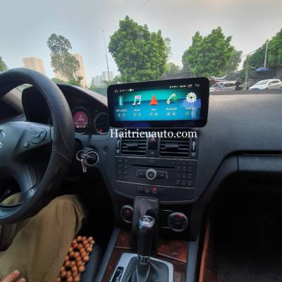 Màn hình android theo xe Mercedes C200 2010