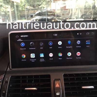 màn hình android theo xe BMW X6 2010