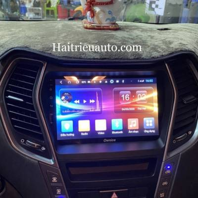 màn hình android theo xe santafe 2019