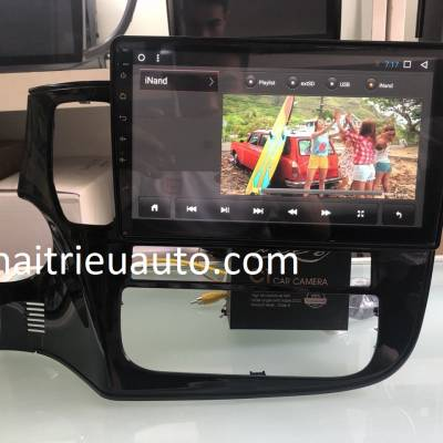 màn hình android theo xe outlander