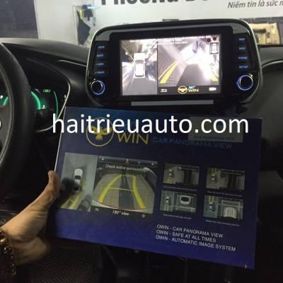 lắp camera 360 cho xe santafe