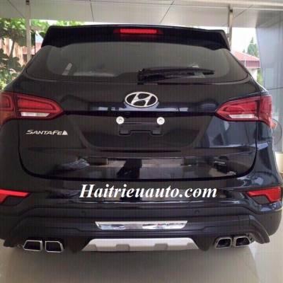 Ốp cản sau pô kép Hyundai Santafe