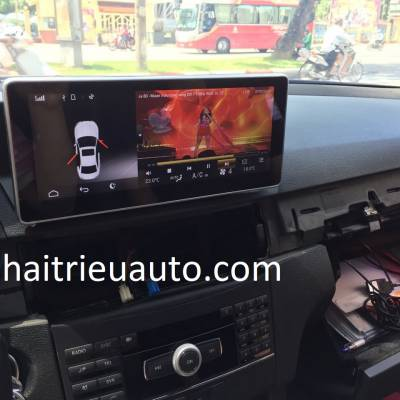 màn hình android theo xe mercedes E