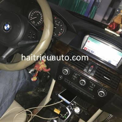 màn hình android theo xe BMW E 60