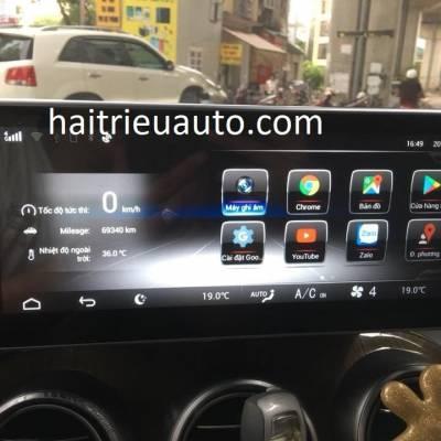 màn hình android theo xe mercedes C 200 2016