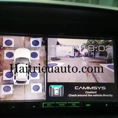 Camera 360 Panorama độ cho xe Pajero Sport