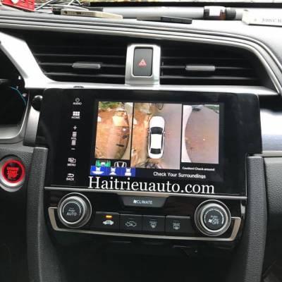 Lắp camera 360 độ Panorama cho xe Honda Civic 2017