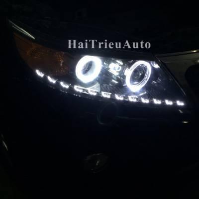 Độ đèn led pha cho xe sorento