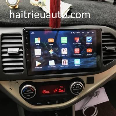 màn hình android theo xe kia morning