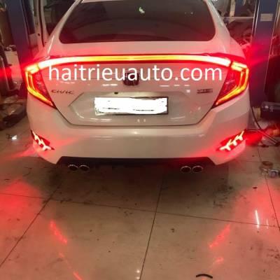 bộ đèn hậu và đèn cốp xe Civic 2018