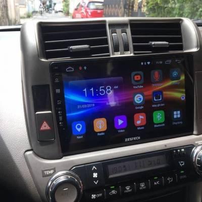 màn hình android zestech theo xe prado