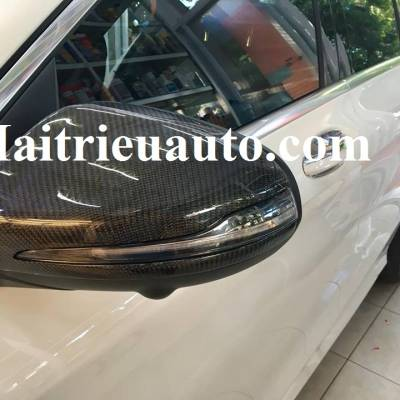 ốp gương cacbon cho xe mercedes C 250