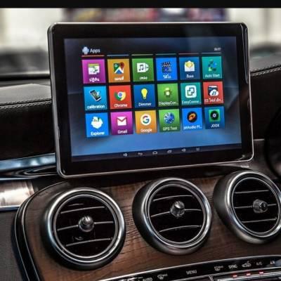 màn hình android theo xe merecdes C 250 2017