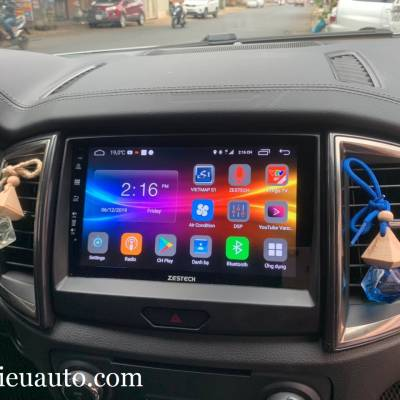 màn hình android zestech theo xe ford ranger