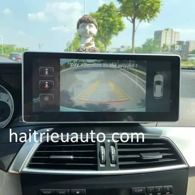 màn hình android theo xe mercedes C 300 2013