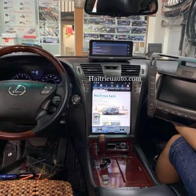 Màn hình tesla android xe lexus LS 460L