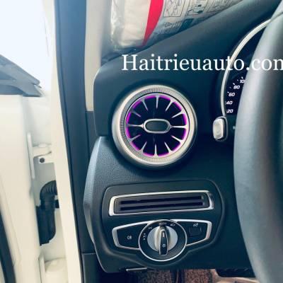 Cửa gió Turbine đèn LED theo xe Mercedes C200 2020