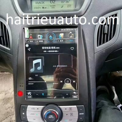 màn hình android tesla theo xe Genesis
