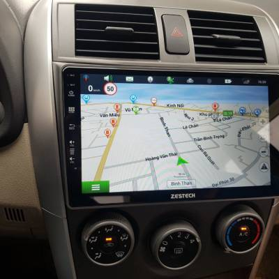 màn hình android zestech theo xe altis 2010