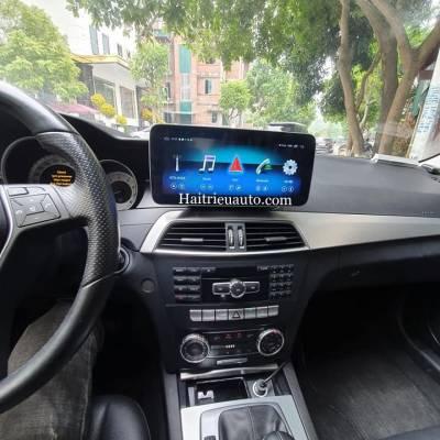 Màn hình android theo xe Mercedes C200 2014