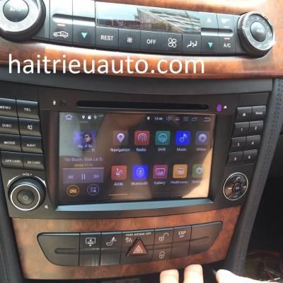 màn hình android theo xe mercedes CLS