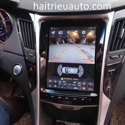 màn hình tesla theo xe sonata 2012