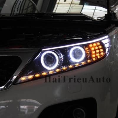 Độ đèn led cho xe sorento