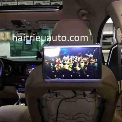 màn hình gối android lắp cho xe santafe