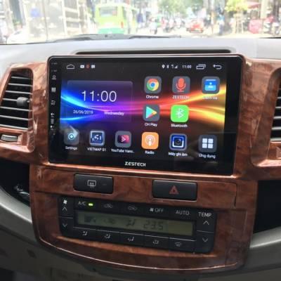 màn hình android zestech theo xe fortuner 2014
