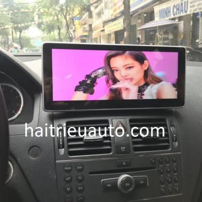 màn hình android theo xe mercedes C200