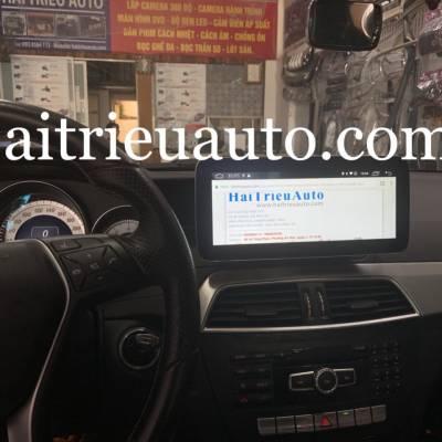 màn hình android theo xe mercedes C 250 2013