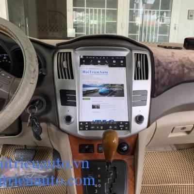 màn hình android tesla theo xe lexus Rx350