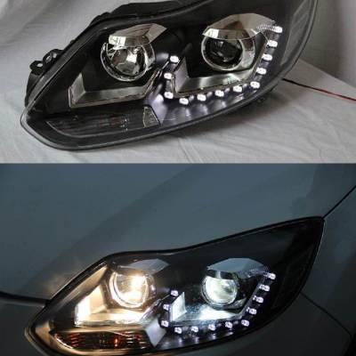 Đèn pha độ nguyên bộ cho xe focus