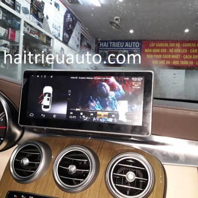 màn hình android theo xe mercedes C 250 2016