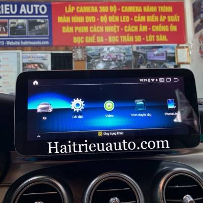 Màn hình android theo xe Mercedes C200 2018