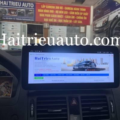 màn hình android xe mercedes C 200 2008