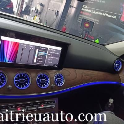 Cửa gió Turbine đèn LED theo xe Mercedes E200