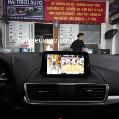 lắp camera 360 Oview xe mazda 3