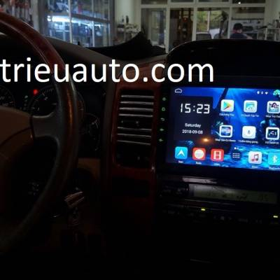 màn hình android theo xe prado 2005