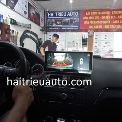 màn hình android theo xe mercedes C 250