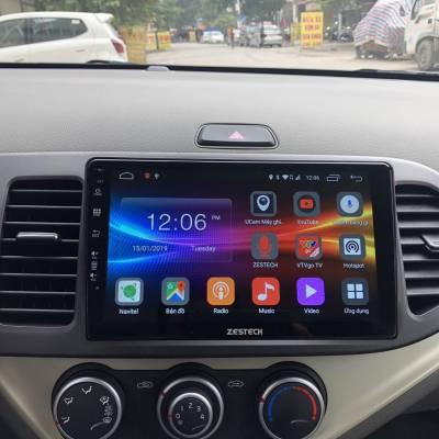 màn hình android zestech theo xe kia morning