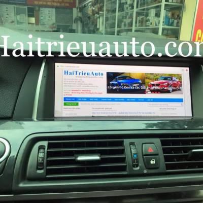 màn hình android theo xe BMW 528i