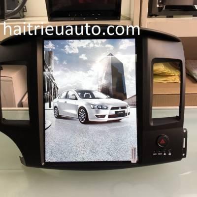 màn hình android theo xe mitsubishi lancer