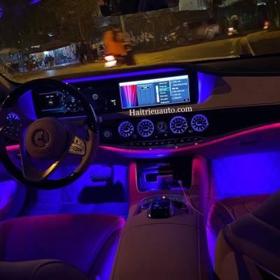 Cửa gió Turbine đèn LED theo xe Mercedes S Class