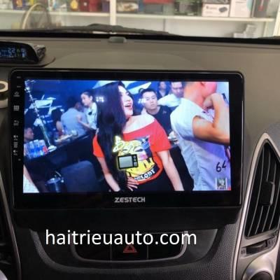 màn hình android zestech theo xe tucson