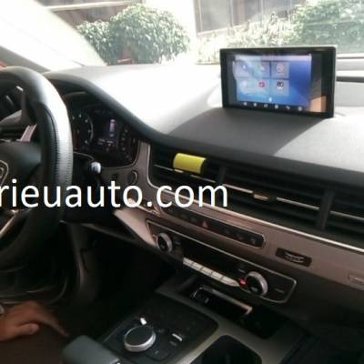 lắp android cho xe audi Q7 2017
