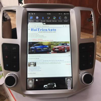 màn hình android tesla xe lexus RX 400