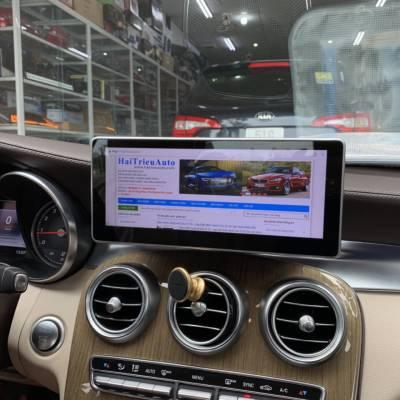 màn hình android xe mercedes C 300